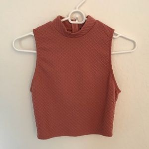 Forever 21 Turtle Neck Crop Top